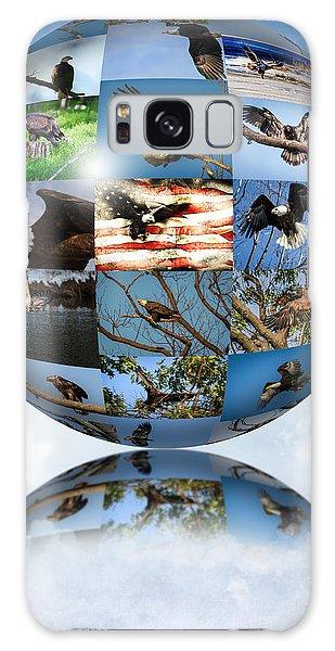 World Full Of Eagles Galaxy Case by Eleanor Abramson