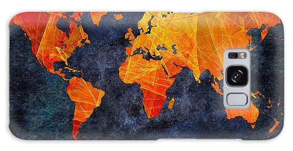 World Map - Elegance Of The Sun - Fractal - Abstract - Digital Art 2 Galaxy Case by Andee Design