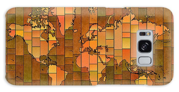 World Map Glasa Brown Orange Green Galaxy Case