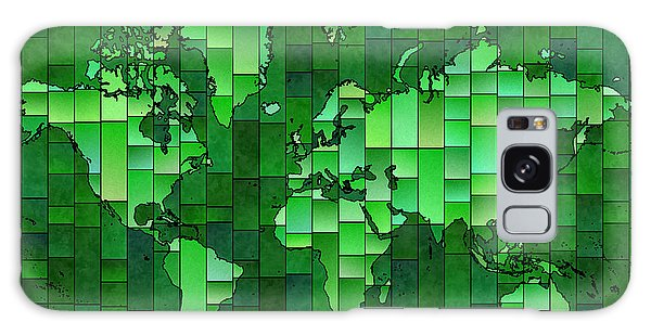 World Map Glasa Green Galaxy Case