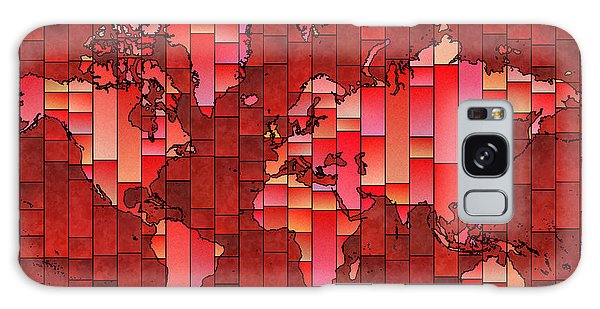 World Map Glasa Red Galaxy Case