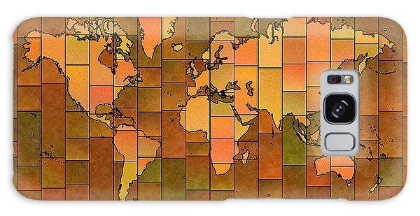 World Map Glasa You Are Here Brown Orange Green Galaxy Case