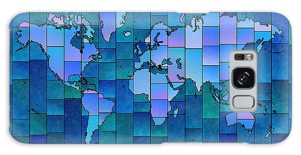 World Map Glasa You Are Here In Blue Galaxy Case