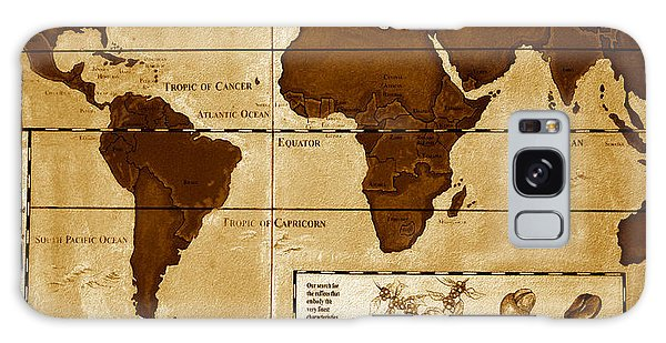 World Map Of Coffee Galaxy Case