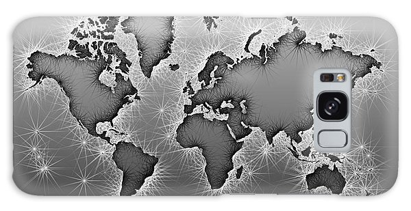 World Map Opala In Black And White Galaxy Case