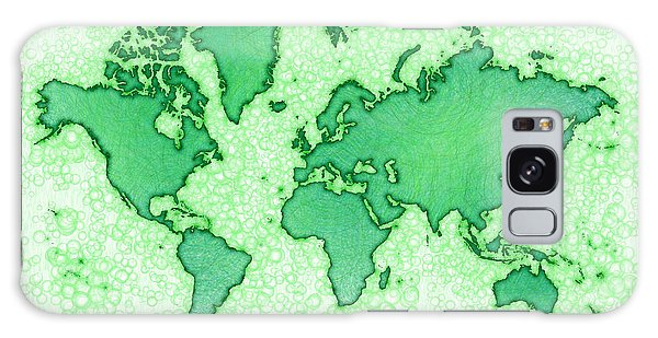 World Map You Are Here Airy In Green And White Galaxy Case