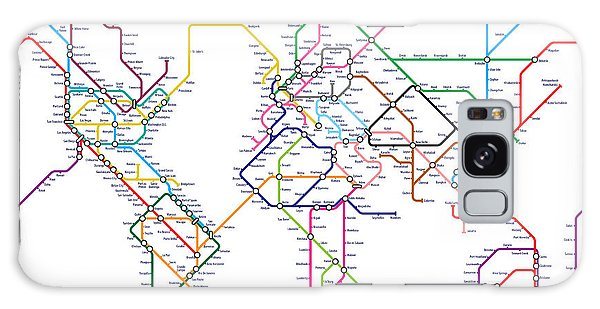 World Metro Tube Map Galaxy Case by Michael Tompsett