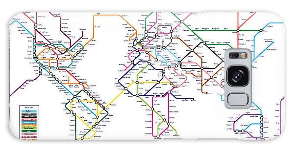 World Metro Tube Subway Map Galaxy Case