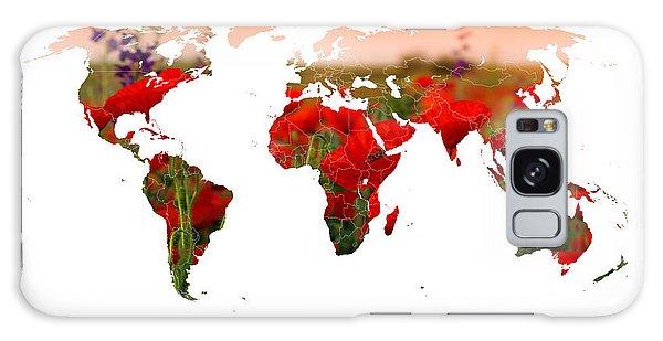 World Of Poppies Galaxy Case