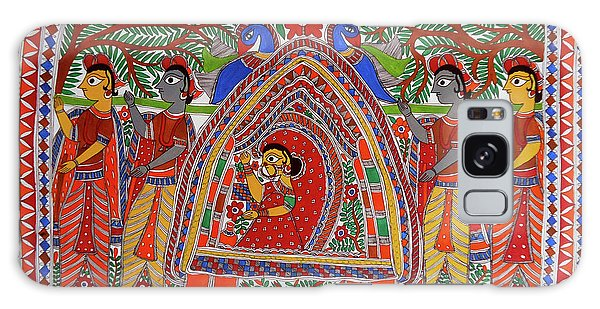Madhubani Galaxy Case - World Oldest Folk Art D Madhubani Painting Of Vidai  The Hindu Wedding Rituals  by D Arts