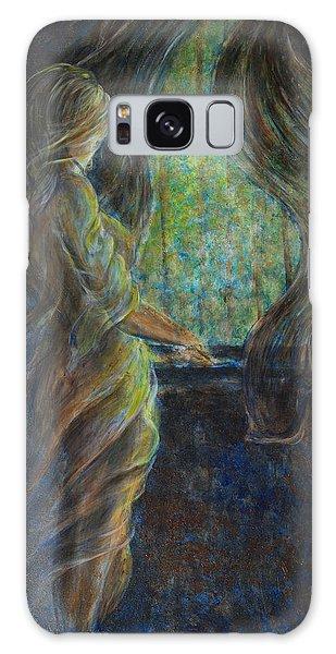 World Outside My Window Galaxy Case by Nik Helbig