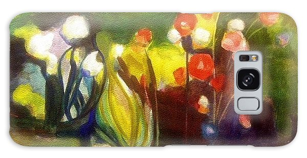 Warm Flowers In A Cool Garden Galaxy Case