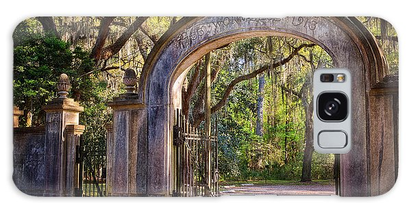 Galaxy Case featuring the photograph Wormsloe Plantation Gate by Joan Carroll