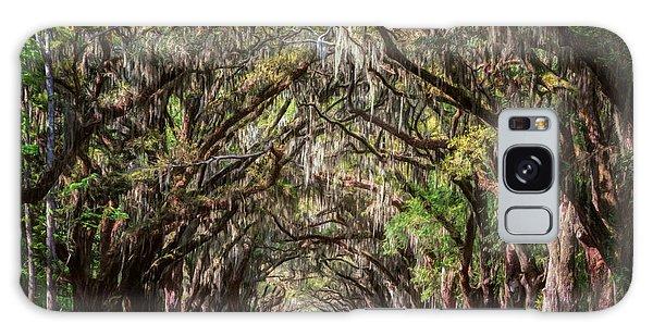 Galaxy Case featuring the photograph Wormsloe Plantation Oaks by Joan Carroll