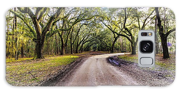 Galaxy Case featuring the photograph Wormsloe Road by Anthony Baatz