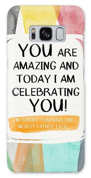 Brothers Galaxy Case - Worst Father Ever- Greeting Card Art By Linda Woods by Linda Woods