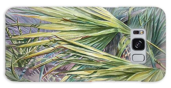 Woven Fronds Galaxy Case by Roxanne Tobaison