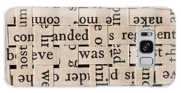 Woven Words By Edward M. Fielding - Galaxy Case by Edward Fielding