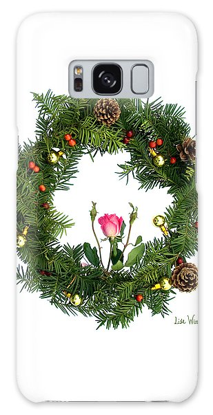 Wreath With Rose Galaxy Case by Lise Winne