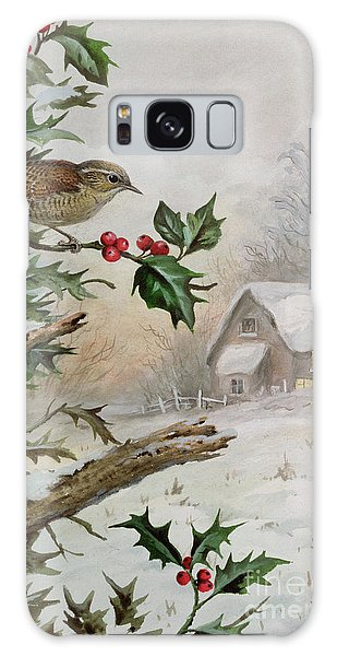 Wren In Hollybush By A Cottage Galaxy Case