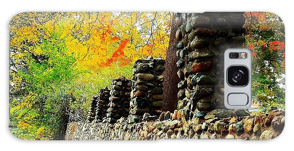 Wright Park Stone Wall In Fall Galaxy Case