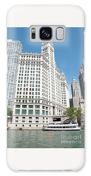 Wrigley Building Overlooking The Chicago River Galaxy Case