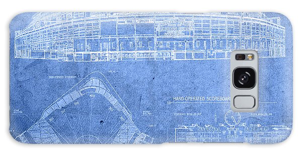 Wrigley Field Chicago Illinois Baseball Stadium Blueprints Galaxy Case