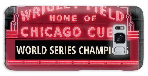 Wrigley Field Marquee Cubs World Series Champs 2016 Front Galaxy Case by Steve Gadomski