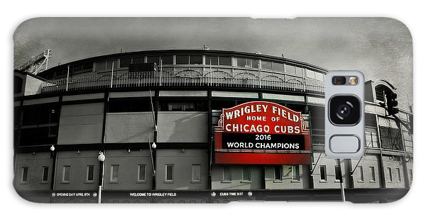 Neon Galaxy Case - Wrigley Field by Stephen Stookey