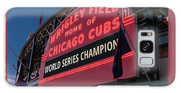 Wrigley Field World Series Marquee Galaxy Case by Steve Gadomski