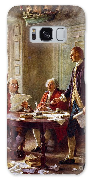 Writing The Declaration Of Independence, 1776, Galaxy Case by Leon Gerome Ferris