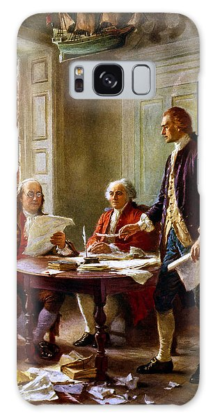 Hero Galaxy Case - Writing The Declaration Of Independence by War Is Hell Store