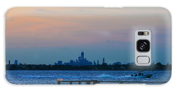 Wtc Over Jamaica Bay From Rockaway Point Pier Galaxy Case by Maureen E Ritter