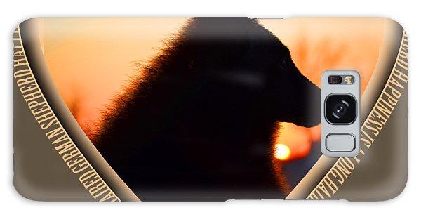 Wuffstar Happiness Is A Long Haired German Shepherd Heart Galaxy Case