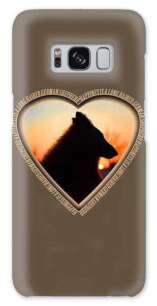 Wuffstar Happiness Is A Long Haired German Shepherd Heart Galaxy Case