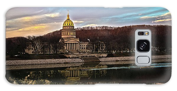Wv State Capitol At Dusk Galaxy Case
