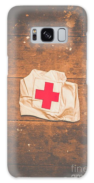 Ww2 Nurse Cap Lying On Wooden Floor Galaxy Case