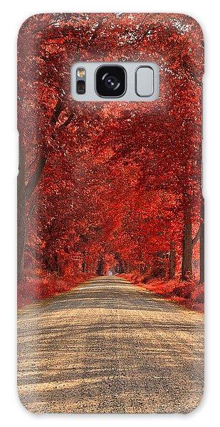 Wye Island Ruby Road Galaxy Case by Nicolas Raymond
