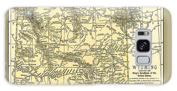 Wyoming Antique Map 1891 Galaxy Case
