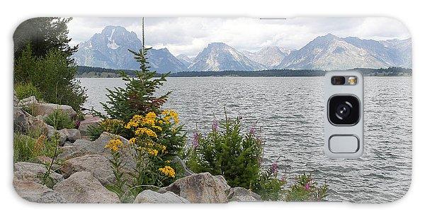 Wyoming Mountains Galaxy Case by Diane Bohna