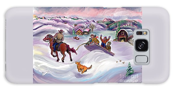 Wyoming Ranch Fun In The Snow Galaxy Case by Dawn Senior-Trask