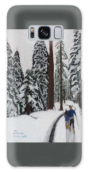 X-c Skiing In The Ca Redwoods 14 Years Ago Galaxy Case
