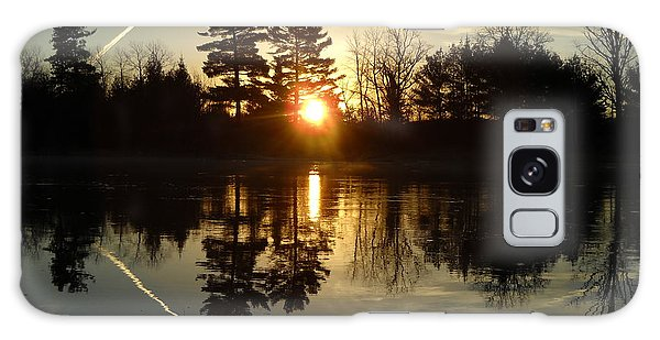 X Marks The Spot Sunrise Reflection Galaxy Case by Kent Lorentzen