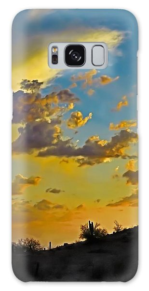 Y Cactus Sunset 10 Galaxy Case