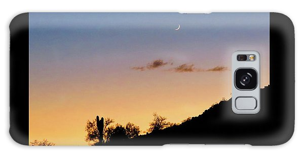 Y Cactus Sunset Moonrise Galaxy Case