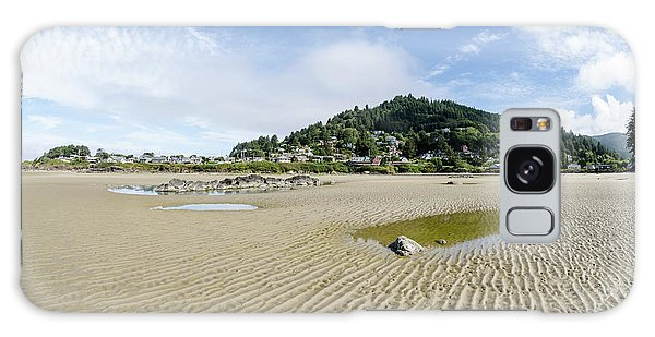 Yachats River At Low Tide Galaxy Case