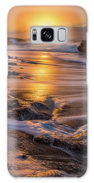 Galaxy Case featuring the photograph Yachats' Sun by Darren White