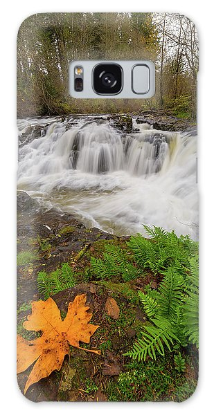 Yacolt Creek Falls In Fall Season Galaxy Case