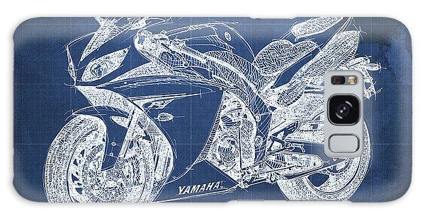 Blueprint Galaxy Case - Yamaha R1 Blueprint by Drawspots Illustrations