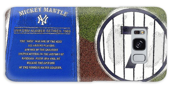 Yankee Legends Number 7 Galaxy Case by David Lee Thompson